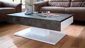 Couchtisch Weiß Grau : couchtisch lania beistelltisch beton grau und wei matt lack ~ Whattoseeinmadrid.com Haus und Dekorationen