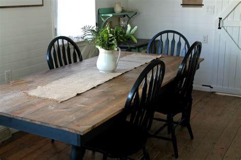 farmhouse kitchen table black and white farmhouse kitchen update knick of time White