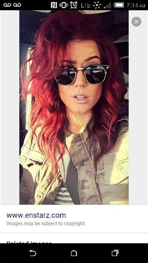 chelsea houska red rr redken color fusion hair colouring pinterest