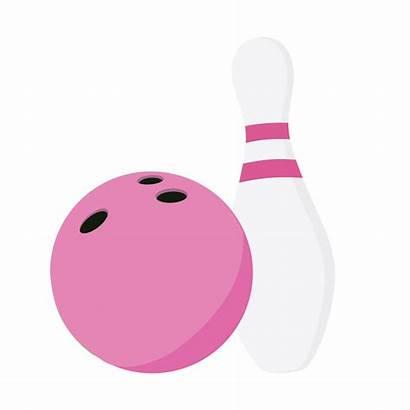 Bowling Pins Balls Clipart Pink Fun Clip