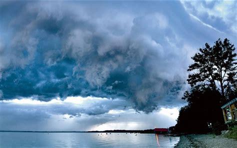 chiemsee lago nubes alta baviera alemania fondos de