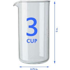 BODUM French Press Replacement Glass 3 Tasse Cup/1 1/2 US Cup/12 oz. :: French Presses :: Coffee