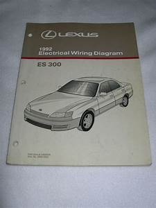 1992 Lexus Es300 Es 300 Factory Original Electrical Wiring Diagram Manual