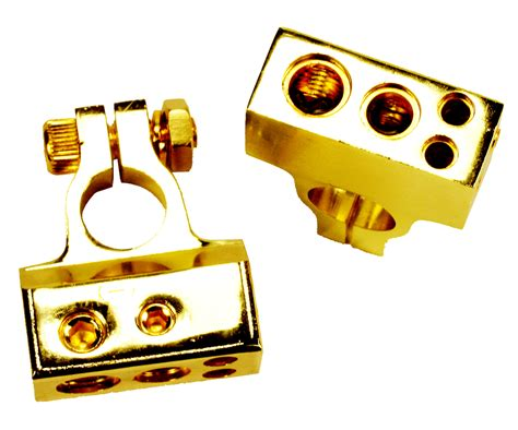 Pair 24k Heavy Gold Plated Battery Terminal Cable For Car