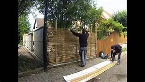 Garten Sichtschutz Bambus : montage sichtschutz aus bambus youtube ~ A.2002-acura-tl-radio.info Haus und Dekorationen