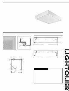 Lightolier Work Light Gvb Series 2x2 User Guide