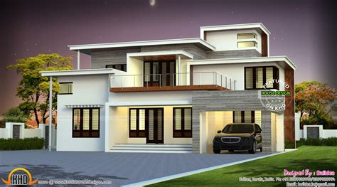Home Design Box Type by Box Type 4 Bedroom Attached Home Kerala Home Design