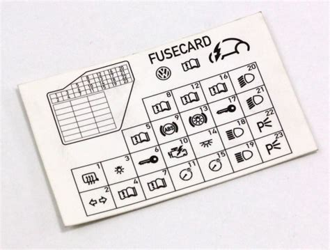98 Volkswagen Jettum Fuse And Relay Diagram by Dash Fuse Box Diagram Card Vw Beetle 98 10 1c0 010 232 K