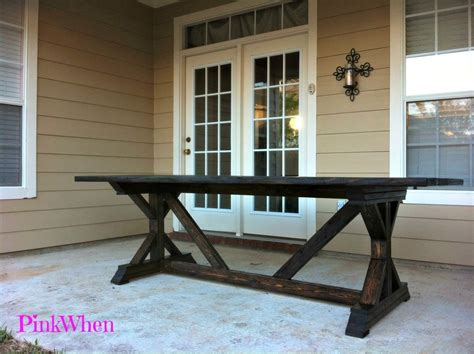 diy  outdoor patio bench pinkwhen