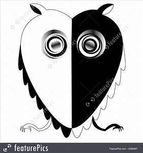 Business Graphics: Black And White Owl - Stock ...