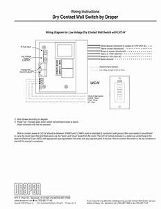 Wiring Instructions Dry Contact Wall Switch By Draper