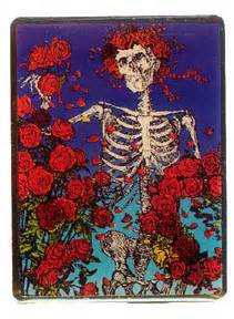 stanley mouse skull roses magnet woodstock trading company