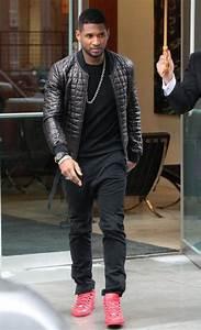 Usher Leather Jacket - Usher Looks - StyleBistro