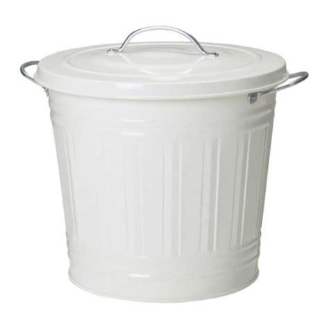 poubelle bureau ikea knodd poubelle blanc 16 l ikea