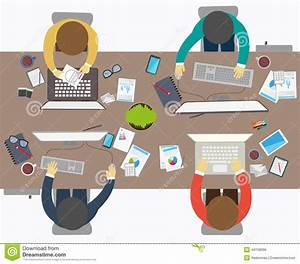 Flat Design Style Business Meeting fice Worker Stock