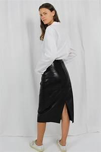 Leder Online Kaufen : vintage lederrock schwarz palona oma klara ~ Watch28wear.com Haus und Dekorationen