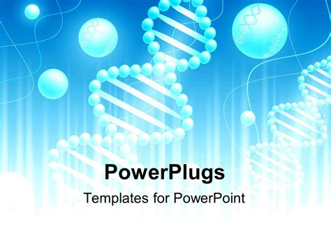 science powerpoint templates powerpoint template science background with dna theme in blue and white 25953