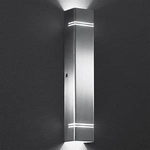 Wandleuchte Oben Und Unten Leuchtend : led wandleuchte case lichtaustritt oben und unten poliert poliert wohnlicht ~ Indierocktalk.com Haus und Dekorationen