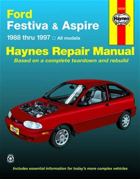 car repair manuals download 1994 ford aspire regenerative braking ford festiva 1988 1993 ford aspire 1994 1997 haynes repair manual hay36030