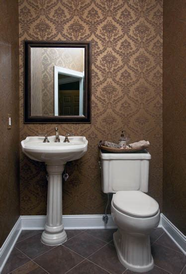 diy bathroom tile ideas wallpapered powder room traditional powder room
