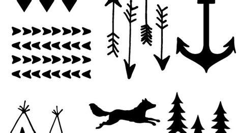 printable arrow  antler templates diy  crafty