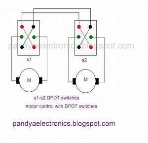 Pandya Electronics  Motor Direction Control With Dpdt Switch