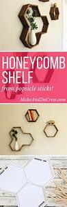 Mid Century DIY Honeycomb Shelves - From Popsicle Sticks ...