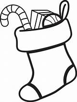 Drawing Sock Stocking Coloring Printable Clipartmag sketch template