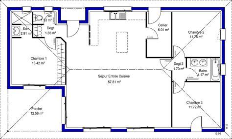 plan de maison 3 chambres adelina 33 maisons lara