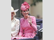 Kate colour coordinates with her kids at Trooping the