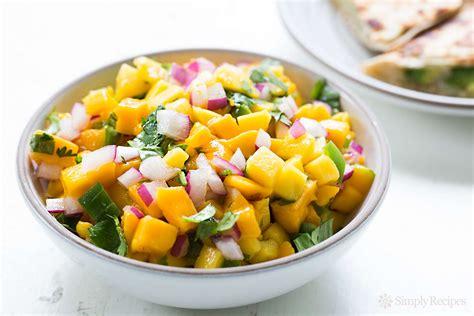 cuisine appetizer mango salsa recipe simplyrecipes com