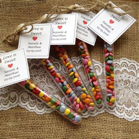 test tube favours love  sweet wedding favours party