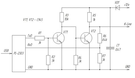 Usb Line Adapter Scheme Pinout Diagram Pinoutguide