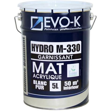 evo k peinture monocouche murs et plafonds hydro m330 5 l blanc mat achat vente peinture