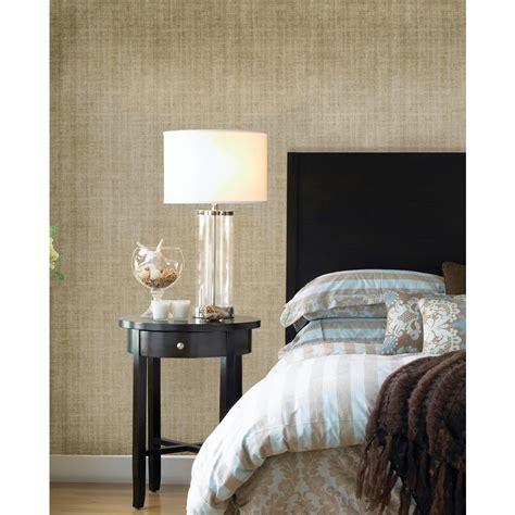 Nuwallpaper Gold Ramie Linen Peel And Stick Wallpaper