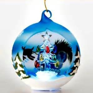 sorelle winter wonderland christmas tree globe ornament led large globe ebay