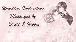 Invitation messages for wedding sample wedding invitation for Wedding invitations messages by bride groom