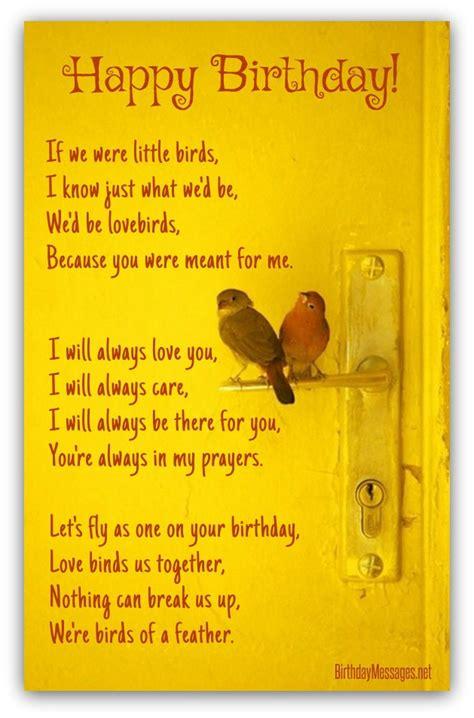 romantic birthday poems page
