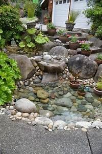 Große Steine Für Garten : steingarten anlegen hang gestaltung grosse steine teich treppe gruene pflanzen garten ~ Buech-reservation.com Haus und Dekorationen