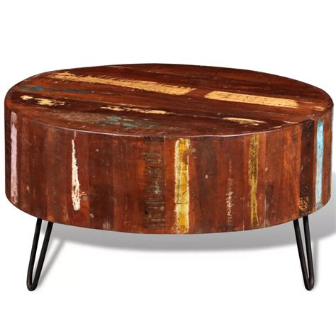 solid wood round coffee table reclaimed solid wood round coffee table vidaxl co uk