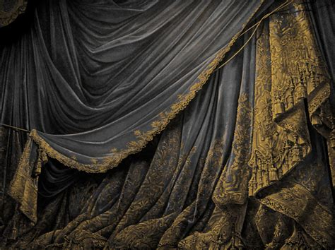 backdrop vintage theater stage curtain black by eveyd on