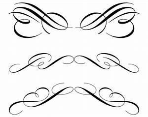 Decorative Scroll Flourishes Clipart (49+)