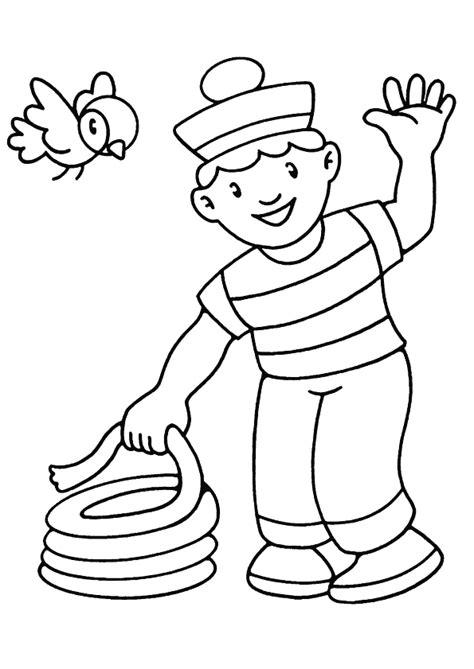 jeux de cuisine de high coloriage un petit marin fait un nœud hugolescargot com