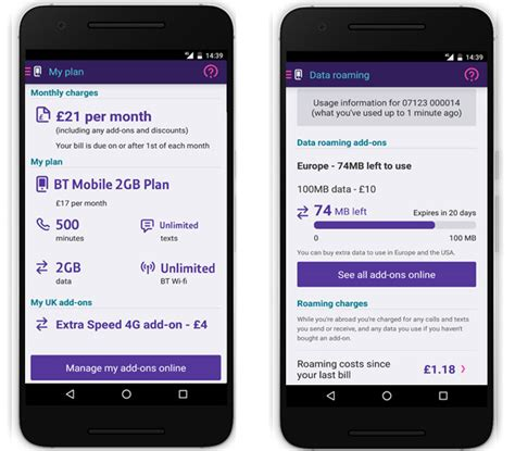 bt mobile plans bt mobile app how to use it to check your monthly