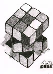 Rubik's Cube Drawing
