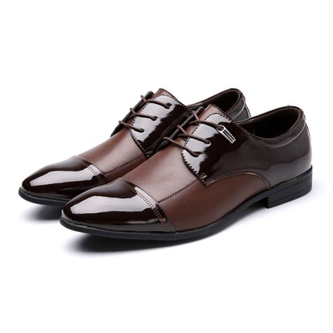 Large Size Casual Leather Men Dress Shoes