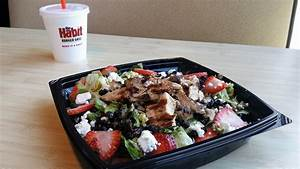 new strawberry balsamic chicken salad from the habit
