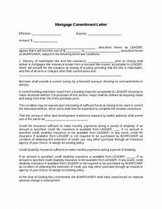 mortgage commitment letter hashdoc With loan commitment letter template