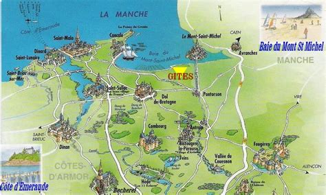 mont st michel carte holidays rentals near dinard dinan our cottages on the map of