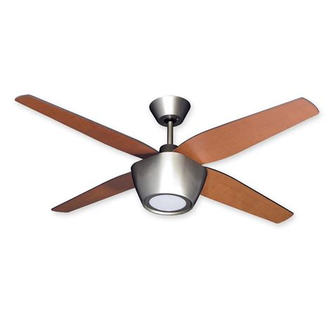 Brushed Nickel Ceiling Fan With Remote by 52 Quot Troposair Fresco Ceiling Fan Integrated Light